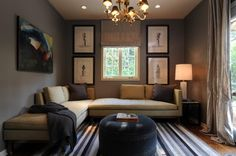 Sophisticated Den - transitional - family room - los angeles - by Kenneth Brown Design
