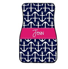 Hey, I found this really awesome Etsy listing at https://www.etsy.com/listing/183140615/nautical-anchor-personalized-car-mats