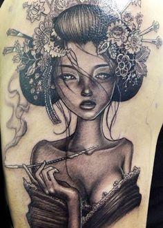 Tattoo Artist - Rember Orellana; I like the dark shading in this
