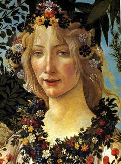 La primavera detail (Spring) by Sandro Boticelli  It's all in the detail.