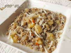 Zuppa di grano saraceno e patate, semplice da preparare. #primopiatto #granosaraceno #patate #zuppa #ricetta #recipe #italianfood #italianrecipe #PTTRicette