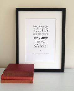 Wuthering Heights Quote Print by LiteraryEmporium on Etsy