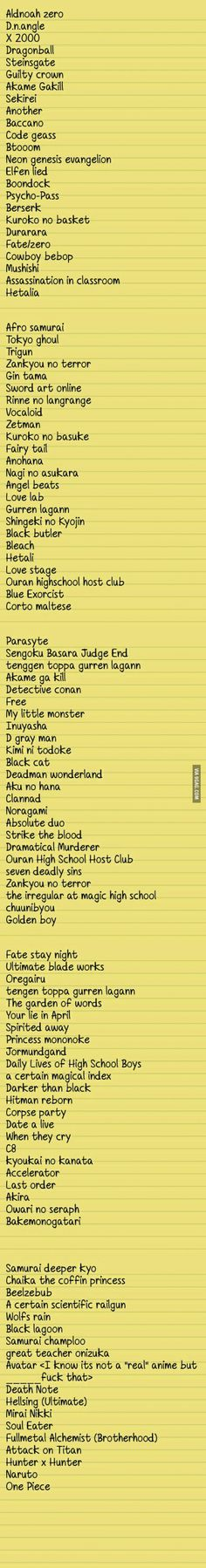 For all anime fans who don't know what to watch next: here's my no-life-collection! feel free to add one!