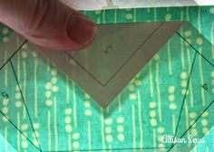 Allison Sews: freezer paper piecing tut. You don't sew through paper!