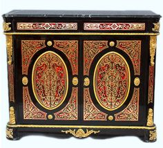 buffet armoire style napoleon iii bibliotheque marqueterie boulle commode in art antiquits meubles
