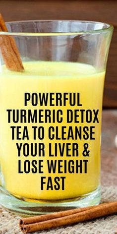 Turmeric Detox Tea To Cleanse Your Liver & Lose Weight Fast at home! This is one of the best liver cleansing drink to date that actually gets results fast! If you have been trying to lose weight without success, this drink will help you lose Healthy Detox, Healthy Drinks, Healthy Weight, Easy Detox, Nutrition Drinks, Healthy Eating, Healthy Meals, Healthy Recipes, Nutrition Data