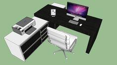 Work desk_Escrivaninha - 3D Warehouse