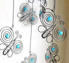 Motýlci na pružině - modraví   Zboží prodejce mat.alena d54535fc19
