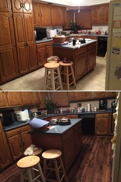 New Kitchen Floor - that's Eagle Falls Oak Laminate!