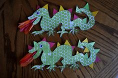 Yay, another great art project inspiration blog! These dragons are great.