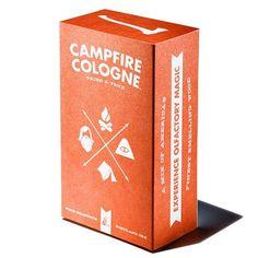 Campfire cologne.. Awesome logo illustration