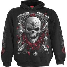 Cut the celebrations short, the wedding is off and this Day of the Dead bride is hopping on the back of Death's motorcycle for a one-way Honeymoon to Damnation Townand Hell, don't it feel good! Hoody Black is made of Top Quality Cotton, Fleec. Zip Hoodie, Skull Hoodie, Sweater Hoodie, Hoodie Outfit, Dead Bride, Mens Sweatshirts, Hoodies, Traditional Fashion, Black Lace Tops