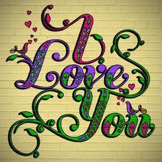 Colorfeel I Love You On Brick