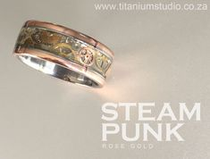 steampunk vintage watch gear titanium rings we use approximately 3