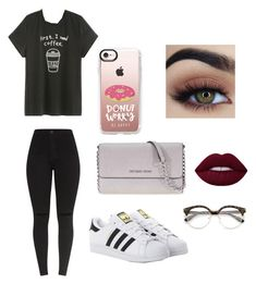 """Maddie Elizabeth "" by graysgirl1617 ❤ liked on Polyvore featuring adidas Originals, Michael Kors and Casetify"