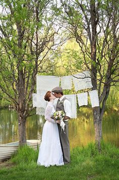 "So Jessica teamed up with some of her favourite vendors to create a wedding fit for Anne Shirley, and her knight in disguise Gilbert Blythe. | This ""Anne Of Green Gables"" Themed Wedding Is The Sweetest Thing Ever"