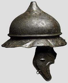 Late Republican Roman or Celtic helmet of Agen type. This type is originally a Celtic (Gallic) design, but Romans adopted many designs from them, such as the later Imperial Gallic types.