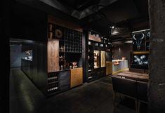 "Meat Restaurant ""Sazha"" by YOD design lab, Sums'ka oblast – Ukraine Interior Design Games, Boutique Interior Design, Restaurant Interior Design, Commercial Interior Design, Commercial Interiors, Restaurant Interiors, Design Lab, Pop Design, Design Ideas"