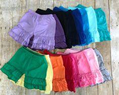 Ruffle shorts girls shorts Ruffle lace shorts by PoshPeanutKids