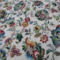 Tirez vintage barkcloth