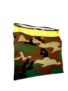 Yellow on Camo clutch · Le Gendre · Online Store Powered by Storenvy