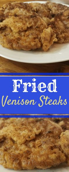 Venison Steaks that are tenderized, marinated and fried to a crisp golden brown are our favorite vension recipe! you wouldnt know they were deer! Venison Cube Steak Recipe, Fried Venison Recipe, Deer Steak Recipes, Cooking Venison Steaks, Cube Steak Recipes, Deer Recipes, Venison Recipes, Venison Meals, Game Recipes