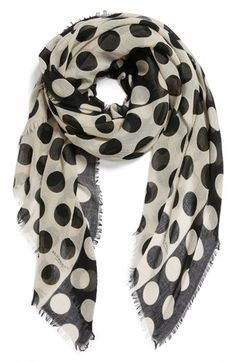Burberry Prorsum Polka Dot Cashmere & Mulberry Silk Scarf available at #Nordstrom