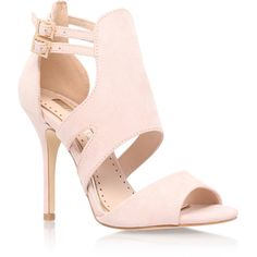 India Miss Kg Nude ($83) ❤ liked on Polyvore featuring shoes, pumps, nude, open toe high heel shoes, nude shoes, fleece-lined shoes, nude high heel shoes and cutout pumps