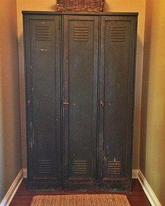 Vintage Lockers in Mudroom
