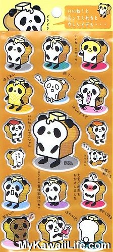 Sanrio Character Stickers - Panda Bread from MyKawaiiLife.com. Ahhhhhh! Need!!! ❤️
