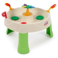Little Tikes Frog Pond Outdoor Round Sand and Water Table White Play Sand, Sand Play, Water Play, Sand And Water Table, Water Tables, Sand Table, Little Tikes, Toddler Play Table, Toddler Toys