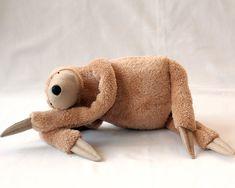 Plush Peanut Sloth stuffed animal toy for children by andreavida