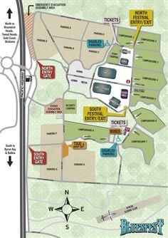 Byron Bay Bluesfest - Festival Maps