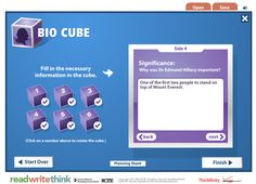 Free Technology for Teachers: Create Story Cubes With Templates from Read Write Think