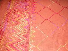 Rust Swedish Weave Blanket by NeenersWeaving on Etsy, 95.00