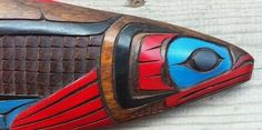 First Nations Fine Carving Salmon Ron Aleck 1992 | eBay