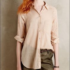 Anthropologie Tops - Anthropologie Holding Horses Button Down Shirt