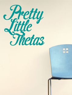 Kappa Alpha Theta Pretty Little Thetas Decal Cute on a tank