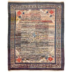 Antique Mongolian Rug | From a unique collection of antique and modern chinese and east asian rugs at https://www.1stdibs.com/furniture/rugs-carpets/chinese-rugs/