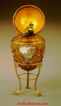 A Fabergé egg is one of fifty jewelry Easter eggs made by Peter Carl Fabergé of the Fabergé company for the Russian Tsars between 1885 and 1917. The eggs are among the masterpieces of the jeweler's art.