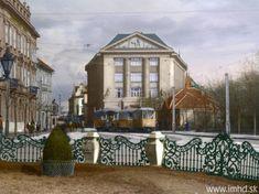 Odstavené kurzové vozne a električka CMg na konečnej stanici v blízkosti Nám. Ľ. Štúra Bratislava, Heart Of Europe, Old Street, Painting, Squares, Nostalgia, Times, Bobs, Painting Art