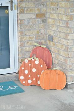 Fall Plank Pumpkins - The Wood Connection Blog