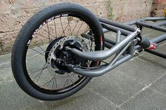 hub steering on a cargo bike prototype