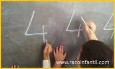 Hoy os traemos una idea sencilla para trabajar la grafomotricidad y las mátemáticas a la vez con los niños de P4 y P3.  http://www.racoinfantil.com/matem%C3%A1ticas/grafomotricidad-n%C3%BAmeros/