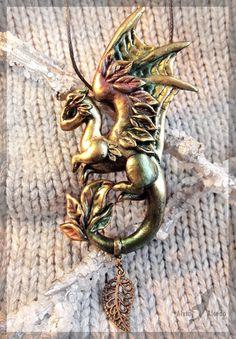 Dragon of Golden Autumn - necklace by AlviaAlcedo.deviantart.com on @deviantART