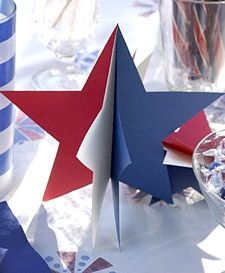 4th of july decorations | 4th of July / 3-D Paper Star Decorations - Martha Stewart Crafts