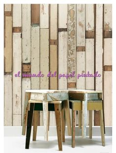 SCRAPWOOD Piet Hein Eek desarrolló una visión sobre el reciclaje, la madera vieja. El efecto es sorprendente, la calidad es tan alta que parece real.