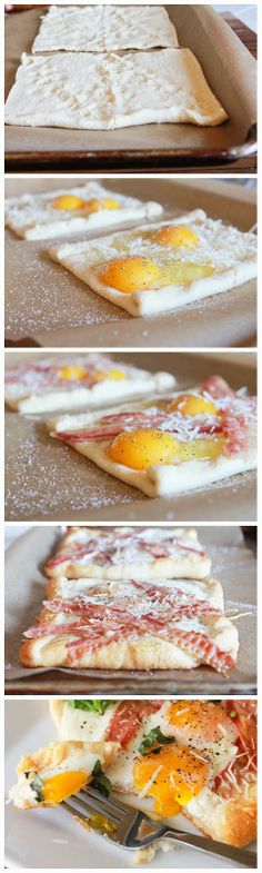 Bacon and Egg Crescent Squares - Eattags