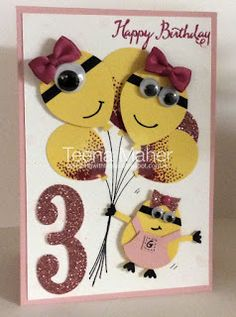 Girl Minion Card cased from Chic Stamping
