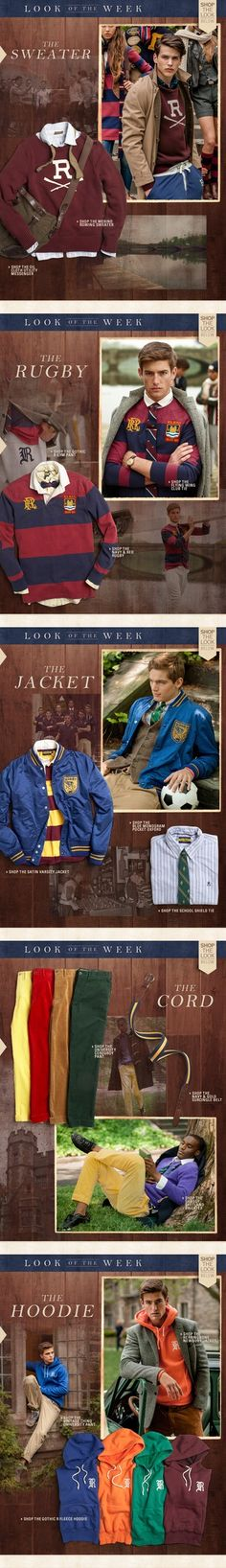 Shop the great 'Look of the Week' at Rugby Ralph Lauren.